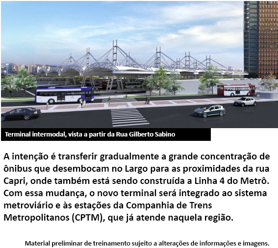 Modificação do Terminal de Oníbus