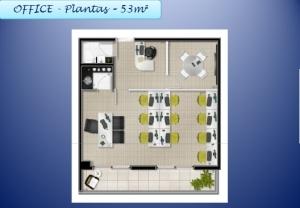 Panta de 43 m2 -Office