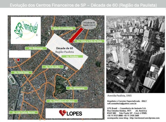 Evolução dos Centros Financeiros de São Paulo - Década de 60