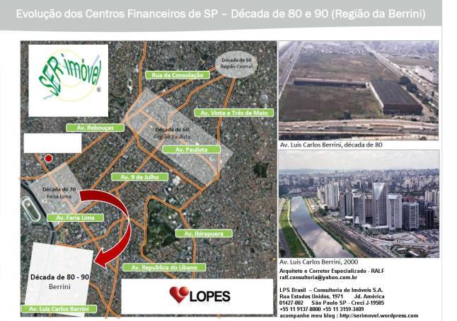Evolução dos Centros Financeiros de São Paulo - Década de 80 e 90