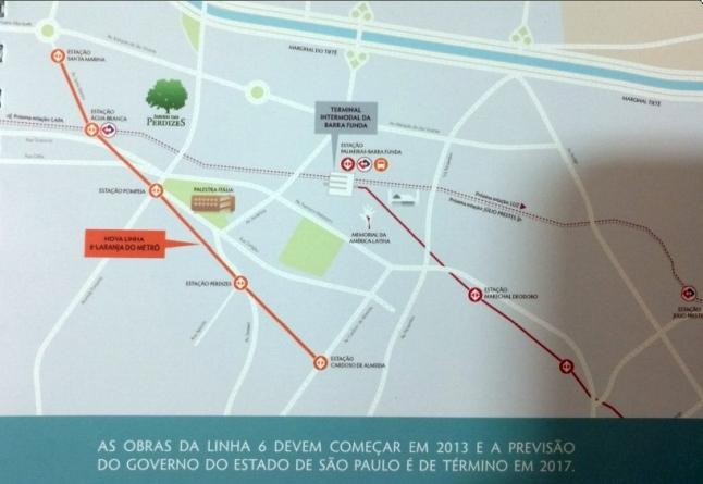 Mapa Do Transporte da Região Da Barra Funda