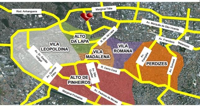 Localização Geral Reserva da Lapa